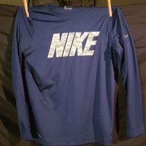 Boys nike long sleeved dri-fit shirt